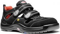 ELTEN-S1-Sicherheits-Arbeits-Berufs-Sandalen, SAMMY ESD, Fußtyp 2, normale Fußweite, schwarz