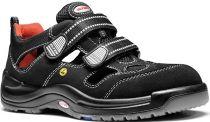 ELTEN-S1-Sicherheits-Arbeits-Berufs-Sandalen, SAMMY ESD, Fußtyp 3, schmale Fußweite, schwarz