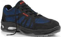 ELTEN-S1-Sicherheits-Arbeits-Berufs-Schuhe, Halbschuhe, LOGAN BLUE LOW ESD, schwarz/blau