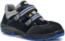 ELTEN-S1-Sicherheits-Arbeits-Berufs-Schuhe, Halbschuhe mit Klettverschluss, RUNABOUT EASY ESD, schwarz/grau