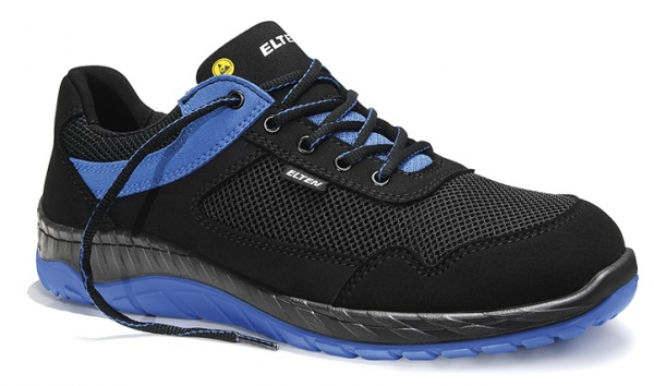 ELTEN-S1-Sicherheits-Arbeits-Berufs-Schuhe, Halbschuhe, LONNY blue Low, ESD, schwarz/blau