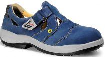 ELTEN-S1-Damen-Sicherheits-Arbeits-Berufs-Sandalen, mit Klettverschluss, NORA ESD, blau