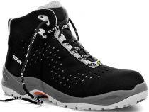 ELTEN-S1-Schnürstiefel, Sicherheits-Arbeits-Berufs-Schuhe, Hochschuhe, IMPULSE GREY MID, ESD, schwarz/grau