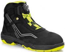 ELTEN-S2-Schnürstiefel, Sicherheits-Arbeits-Berufs-Schuhe, Hochschuhe, AMBITION BOA MID, ESD, schwarz/gelb