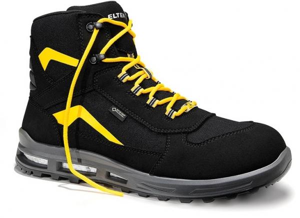 ELTEN-S2-CI-Winter-Sicherheits-Arbeits-Berufs-Schuhe, Winterstiefel, TIMOTHY GTX Mid, ESD, CI, schwarz/gelb