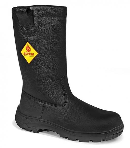 ELTEN-F2A-HI-Feuerwehr-Schlupf-Stiefel, MASTER, Form D, HI, schwarz