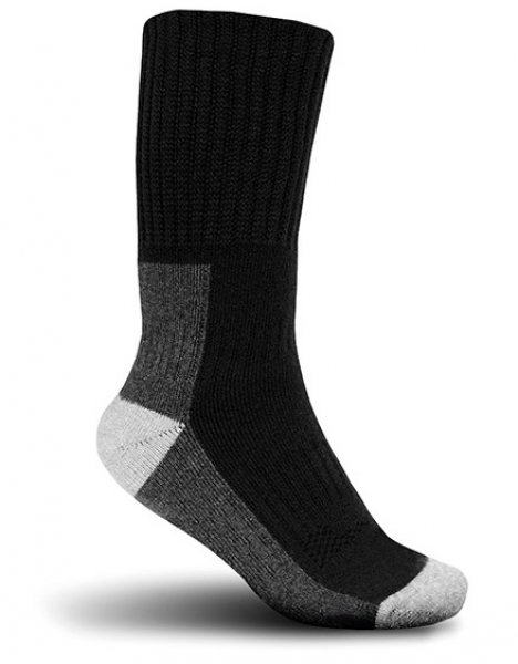 ELTEN-THERMO-SOCKS, Arbeits-Berufs-Socken, 45% Wolle/33% Acryl/10% Polyamid/12% Elasthan, schwarz/grau