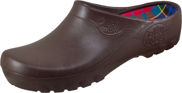 ALSA-PU-Arbeits-Berufs-Clogs, Jolly Fashion, braun
