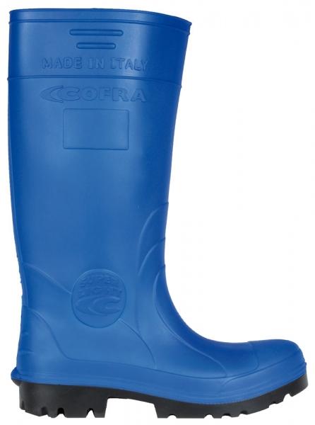 COFRA-NEW FISHER, S5, CI, SRC, Sicherheits-Arbeits-Berufs-Gummi-Stiefel, blau