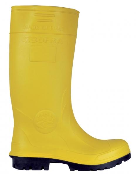 COFRA-NEW-CASTOR S5, CI, SRC, Sicherheits-Arbeits-Berufs-Gummi-Stiefel, gelb