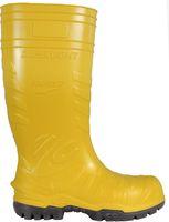 COFRA-ELECTRICAL SAFEST YELLOW SB E P FO CI SRC, PU-Arbeits-Berufs-Gummi-Stiefel für Elektiker, Metallfrei, gelb