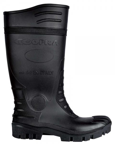 COFRA-TYPHOON S5 SRC, Sicherheits-Arbeits-Berufs-Gummi-Stiefel, schwarz/schwarz