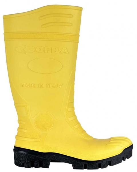 COFRA-TYPHOON S5 SRC, Sicherheits-Arbeits-Berufs-Gummi-Stiefel, gelb/schwarz