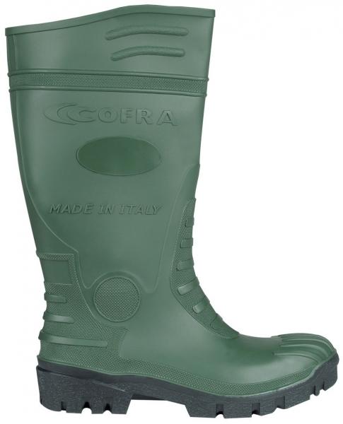 COFRA-TYPHOON S5 SRC, Sicherheits-Arbeits-Berufs-Gummi-Stiefel, grün/schwarz