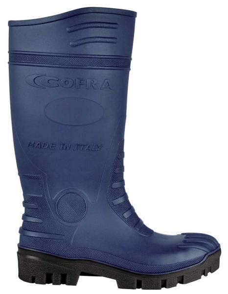 COFRA-TYPHOON S5 SRC, Sicherheits-Arbeits-Berufs-Gummi-Stiefel, blau/schwarz