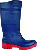 COFRA-TYPHOON S5 SRC, Sicherheits-Arbeits-Berufs-Gummi-Stiefel, blau/rot