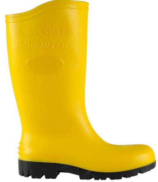 COFRA-ASTEROID YELLOW S5 SRC, Sicherheits-Arbeits-Berufs-Gummi-Stiefel, gelb