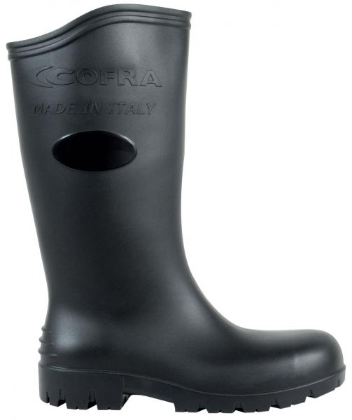 COFRA-ASTEROID BLACK S5 SRC, Sicherheits-Arbeits-Berufs-Gummi-Stiefel, schwarz