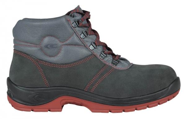 COFRA-DACHDECKER , O3, HRO, SRC, FO, Arbeits-Berufs-Schuhe, hoch, blau/rot