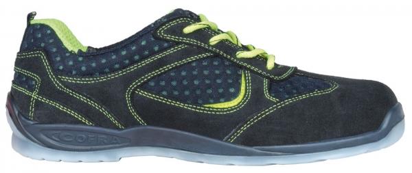 COFRA-MASLOW O1 FO SRC, Arbeits-Berufs-Schuhe, Halbschuhe, blau/gelb