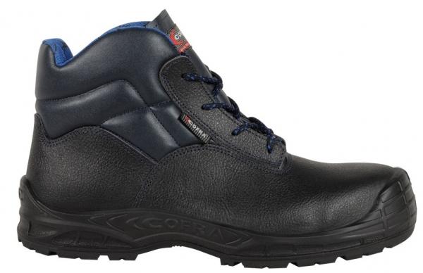 COFRA-S3-Sicherheitsschuhe, LUGANO BLUE UK, SRC, hoch, schwarz/blau