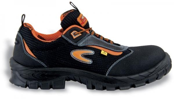 COFRA-AEGIR S1 P ESD SRC, Sicherheits-Arbeits-Berufs-Schuhe, Halbschuhe, schwarz/orange