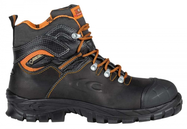 COFRA-GALARR, S3, Sicherheits-Arbeits-Berufs-Schuhe, Schnürschuhe, hoch, schwarz
