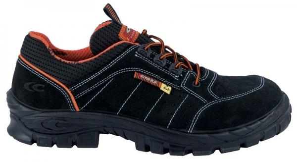 COFRA-BIFROST, S1 P, ESD, SRC, Sicherheits-Arbeits-Berufs-Schuhe, Schnürschuhe, halb, schwarz