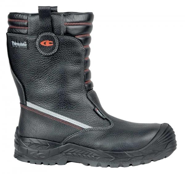 COFRA-PURSAR, S3, CI, WR, HRO, SRC, Sicherheits-Arbeits-Berufs-Schuhe, Schlupfstiefel, schwarz