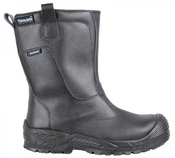 COFRA-GERD, S3, CI, HRO, SRC, Sicherheits-Arbeits-Berufs-Schuhe, Schlupfstiefel, schwarz
