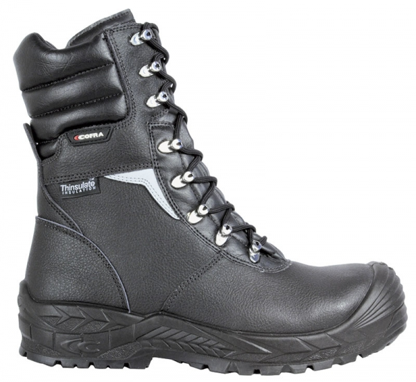 COFRA-BRAGI, S3, CI, HRO, SRC, Sicherheits-Arbeits-Berufs-Schuhe, Schnürstiefel, schwarz