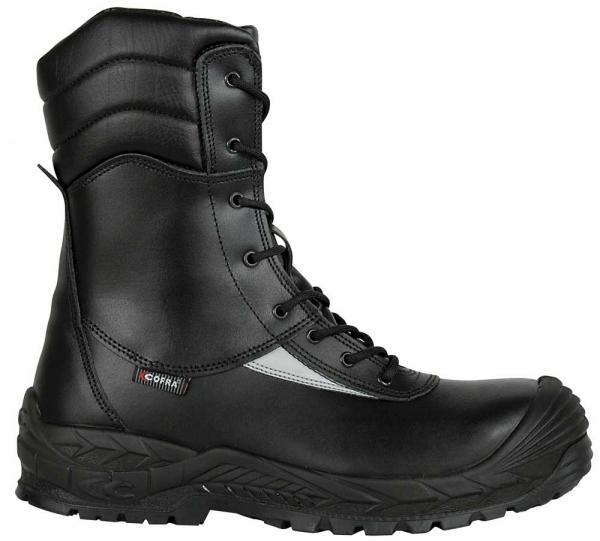 COFRA-OFF SHORE, S3, HRO, SRC, Sicherheits-Arbeits-Berufs-Schuhe, Schnürstiefel, schwarz