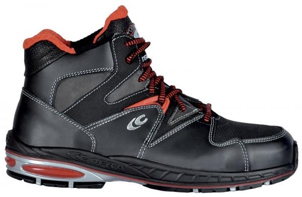 COFRA-PERFECT GAME S3 CI, SRC, Winter-Sicherheits-Arbeits-Berufs-Schuhe, Hochschuhe, schwarz/rot