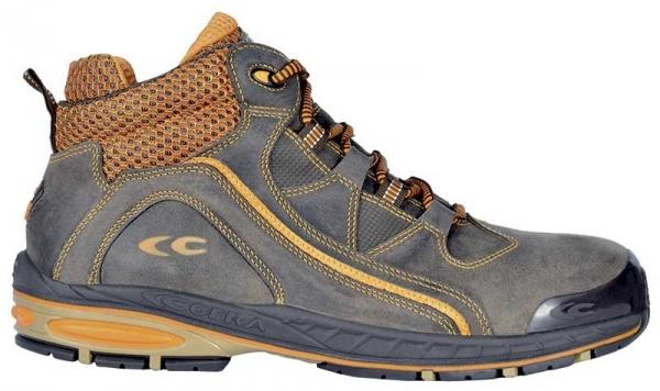 COFRA-BASEMAN S3,SRC, Sicherheits-Arbeits-Berufs-Schuhe, Hochschuhe, blau/orange