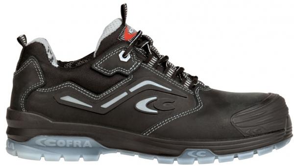COFRA-MONET BLACK S3 SRC, Sicherheits-Arbeits-Berufs-Schuhe, Halbschuhe, schwarz