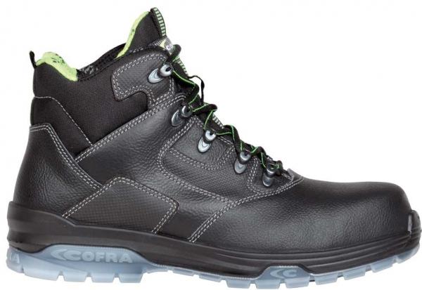 COFRA-DE CHIRICO BLACK S3 SRC, Sicherheits-Arbeits-Berufs-Schuhe, Schnürstiefel, hoch, schwarz