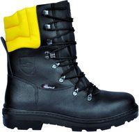 COFRA-WOODSMAN BIS, A, E, P, FO, WRU, SRC, Arbeits-Berufs-Schuhe, Schnittschutz, schwarz/gelb