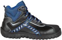 COFRA-BALTIC BLACK S3 SRC, Sicherheits-Arbeits-Berufs-Schuhe, Hochschuhe, schwarz/blau