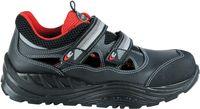 COFRA-BAKASA, S1P, SRC, Sicherheits-Arbeits-Berufs-Schuhe, Halbschuhe, Klettverschluss, schwarz