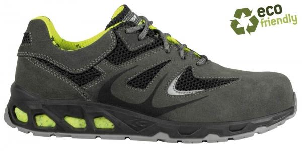 COFRA-BAR GREY, S1P, SRC, Sicherheits-Arbeits-Berufs-Schuhe, Halbschuhe, Farbe: grau/schwarz