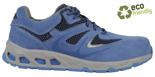 COFRA-BAR S1P, SRC, Sicherheits-Arbeits-Berufs-Schuhe, Halbschuhe, Farbe: blau