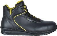 COFRA-BOHR, S3, SRC, Sicherheits-Arbeits-Berufs-Schuhe, Hochschuhe, schwarz/gelb