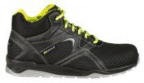 COFRA-BACKFIELD S3 SRC, Sicherheits-Arbeits-Berufs-Schuhe, hoch, schwarz/gelb