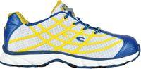 COFRA-ALIEN WHITE, S1 P, SRC, Sicherheits-Arbeits-Berufs-Schuhe, Halbschuhe, weiss/gelb/blau