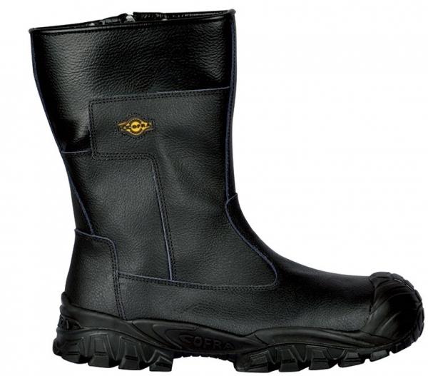 COFRA-NEW ODER S3 ÜK CI SRC, Winter-Sicherheits-Arbeits-Berufs-Schuhe, schwarz