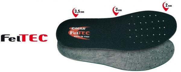 COFRA-Schuh-Zubehör, FELTEC SOLETTA, Einlegesohlen