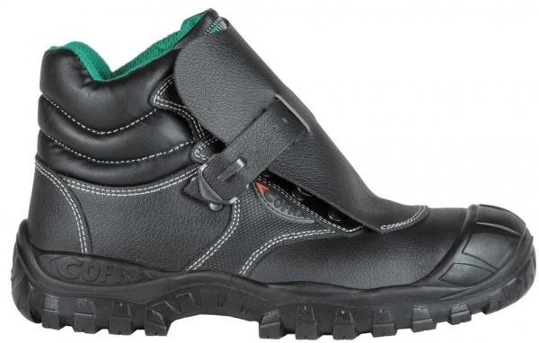 COFRA-MARTE ÜK S3, SRC, Schweißer-Sicherheits-Arbeits-Berufs-Schuhe, Schnürstiefel, hoch, schwarz