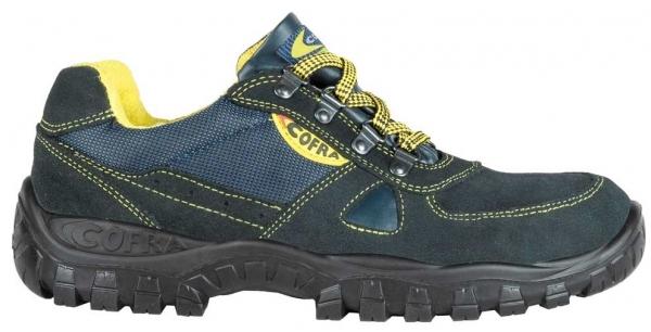 COFRA-AZIMUTH S1P, SRC, Sicherheits-Arbeits-Berufs-Schuhe, Halbschuhe, blau/gelb