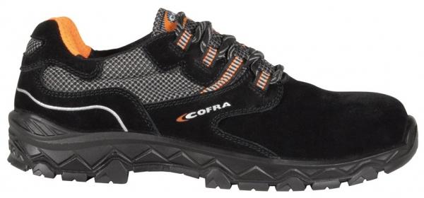 COFRA-S1P-Sicherheitshalbschuhe, STRETCHING BLACK, SRC, schwarz/grau