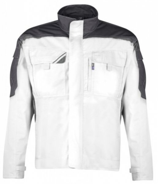 PKA-Arbeits-Berufs-Bund-Jacke, Blouson, Bestwork, MG260, weiß/grau